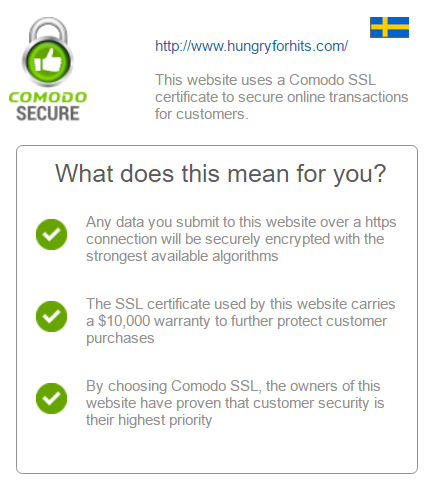 Comodo security warning login Hungry For Hits