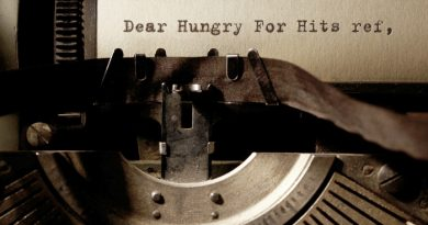 Hungry For Hits typewriter