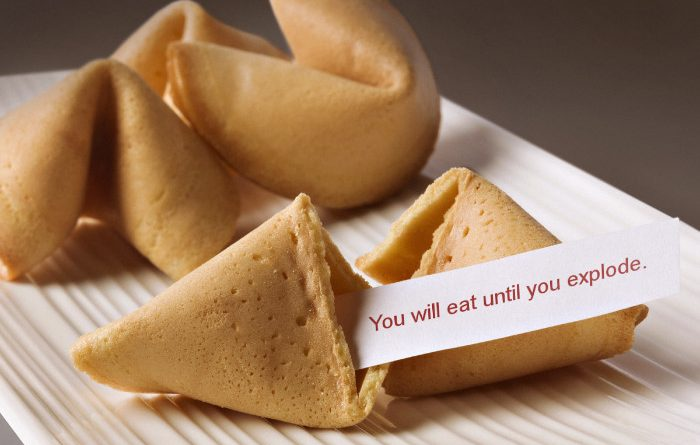Hungry For Hits fortune cookie